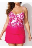 AUBADE CUP SIZED TIE FRONT TANKINI WITH SORBET SIDE SLIT SKIRT